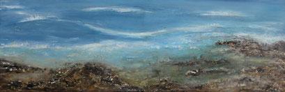 """Strand"", Acryl auf Leinwand, 60x20 cm"