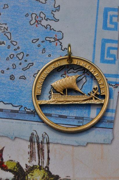 Münzsägewerk Katrin Thull | Griechenland - Schiff