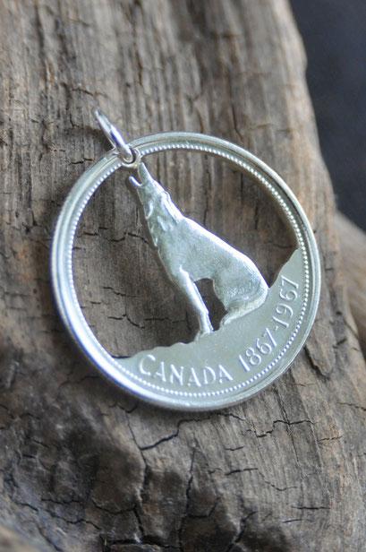 Münzsägewerk Katrin Thull   Kanada - kleiner Wolf