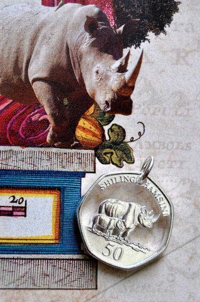 Münzsägewerk Katrin Thull | Tansania - Nashörner silber