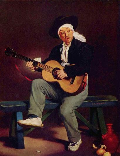 Испанский гитарист - самые известные картины Эдуарда Мане