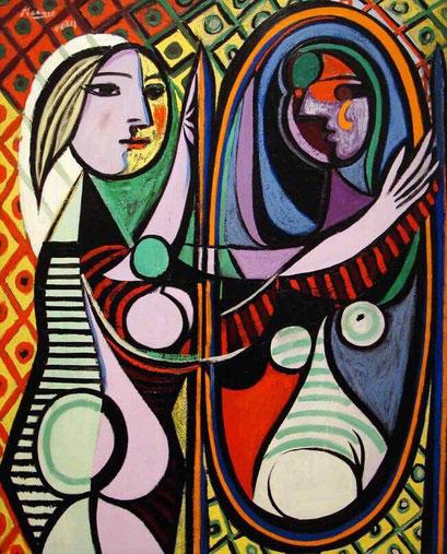 Самые известные картины Пикассо:  Девушка перед зеркалом