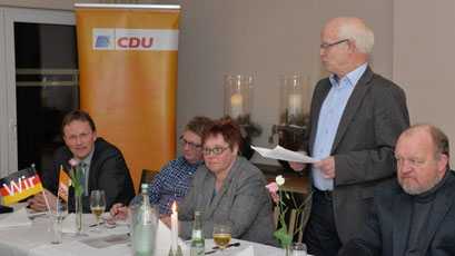MdEP Jens Gieseke, Stefan Ählen, Anette von Zoest, Heinz Deters und Karl-Heinz Knoll. Foto: Manfred Fickers