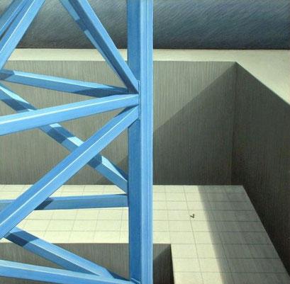 Die Perspektiven der Zukunft, 1979, Acryl auf Leinwand auf Hartfaser, 90/90 cm, Kunstsammlung Land  NRW