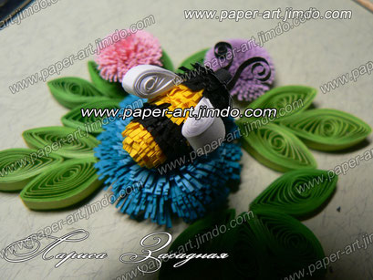 quilling , quilling paper, paper art, art, love, design, мастер класс, пчела, пчелка