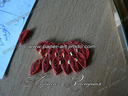 квиллинг бумага клубничка