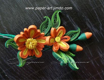 квиллинг бумага цветы картины