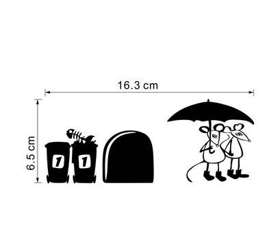 Plintsticker Paraplu € 4,95