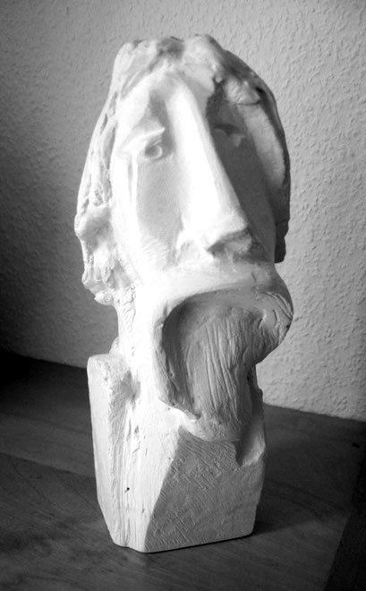 """Poet"", 2006, Gips, Höhe 21 cm"