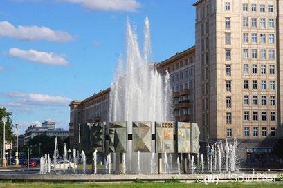 der Springbrunnen am Strausberger Platz