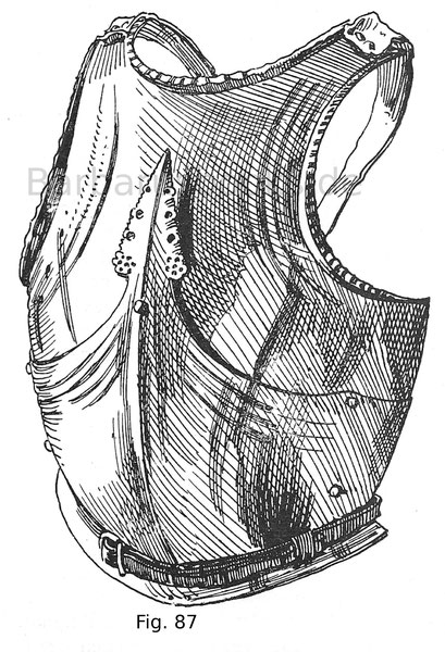 Geschiftetes Bruststück von einem Harnisch des venezianischen Feldherrn Bartolomeo Colleoni (ca. 1399—1475). Italienisch, um 1470.