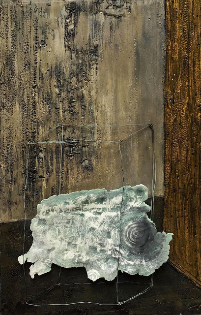 "Raumkonstruktion ""in`s Freie"" , 2020, 26 x 40 cm"