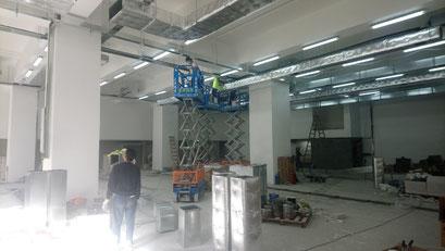 興建本地啤酒廠工程, 食品工場出牌cable tray/ led tubes/ air duct installation in a local brewery for food factory licence application
