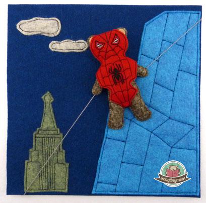 Spiderbär Superheld Spielbuch nähen