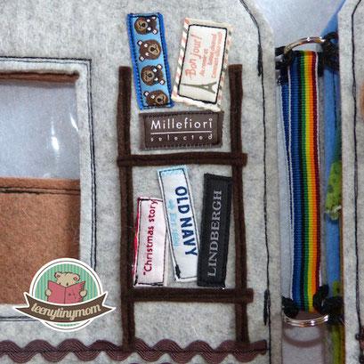 Webkanten Quiet book Spielbuch Activity Buch Selvage