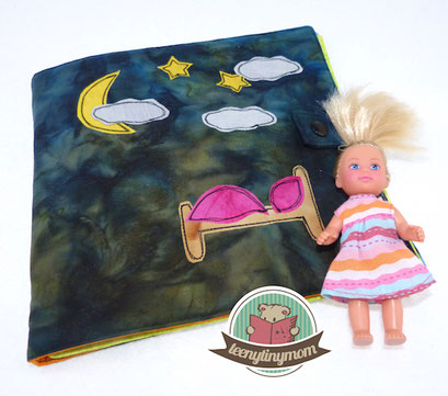 Quiet book nähen aus Stoff Kleinkinder Softbuch