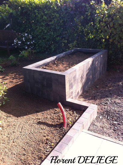 éléments palissade béton dalle béton Marlux terrasse aménagement extérieur jardin