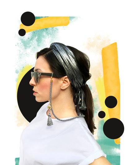 Mojichi Brillenband Style SMOOOTH azur
