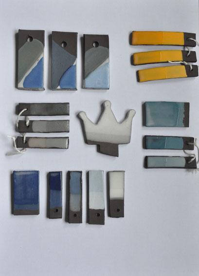 Palette des couleurs disponibles en engobe poterie céramique grès