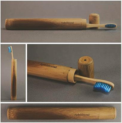 Etui Zahnbürste Bambus