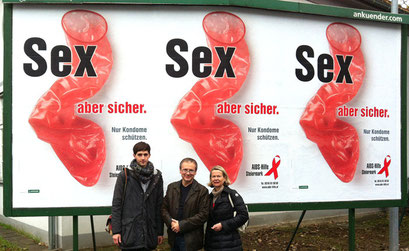 """Sex - aber sicher"", Plakat-Kampagne AIDS-Hilfe Steiermark Dezember 2013"