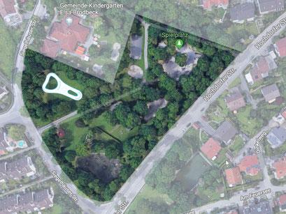 Alternativer Standort des Pumptracks auf dem Gelände Dorfwiesen in Affalterbach