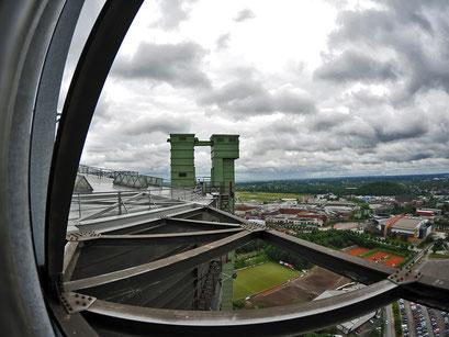 von oben Blick auf das CentrO
