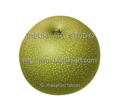 梨のイラスト ナシ pear 幸水