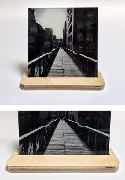 gefräster Bildständer mit passendem 4mm Acryl