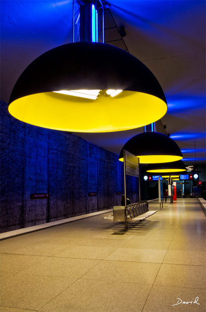 U-Bahnhof Westfriedhof München HDR