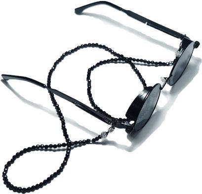 BEHERO Designer Brillenkette Dark Diamant
