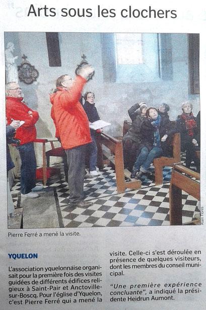 Article Arts sous les Clochers, la Manche Libre, 16 avril 2016
