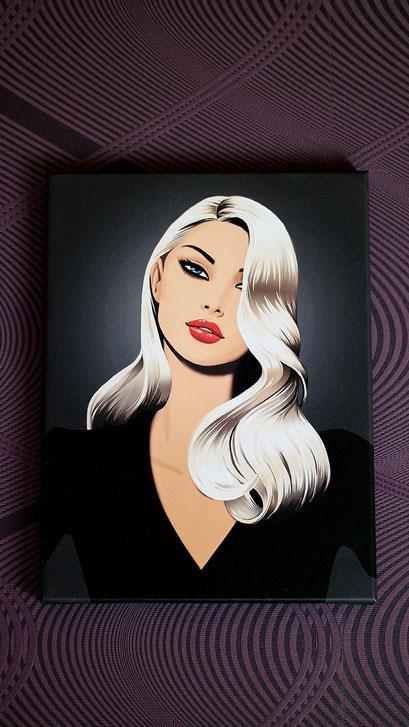 Bilderwand einmal selbst gestalten | Jason Brooks auf Leinwand mit Tesa Klebehaken angebracht | hot-port.de | Lifestyle Blog