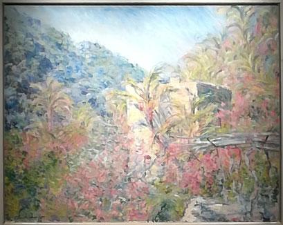 """""""Vallée de Sasso, effet de soleil"""" 1884. Musée Marmottan Monet."""