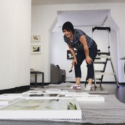 Professionalisierung für Künstler, Kunstcoaching, Aufbau Ausstellung Tatjana Utz, Galerie