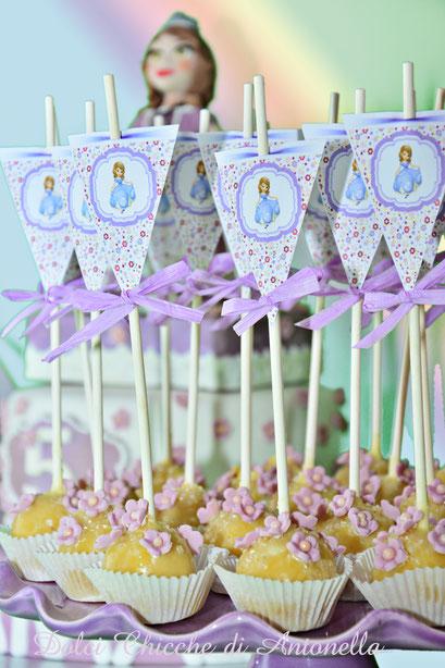 princess sophie-principessa sofia-cake pops-dolci-cake-torte decorate-la spezia-liguria-www.dolcichicchediantonella.com