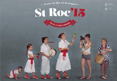 Festes de San Roc en Arenys de Mar 2015 Cartel y Programa