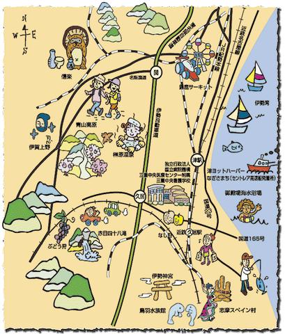 久居市周辺マップ
