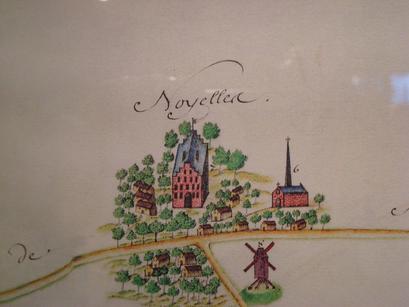 Ancien plan de Noyelles les Seclin, crédit photo Seclin Tourisme