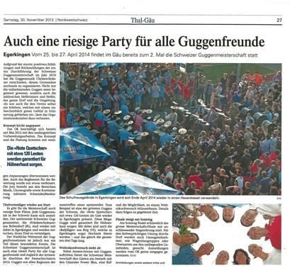 Oltner Tagblatt vom 30.11.2013