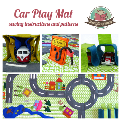 Car Play Mat, Toddler, sewing pattern