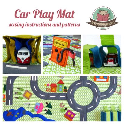 Car Play Mat, Toddler, sewing pattern