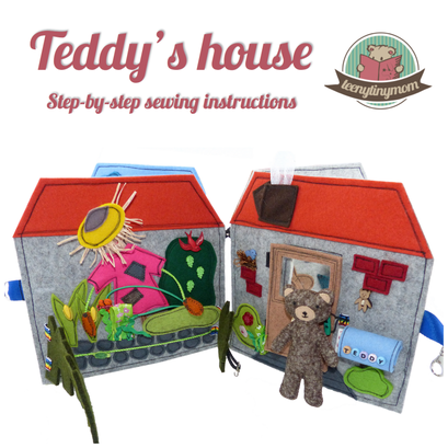 Quiet book Teddys house sewing dollhouse
