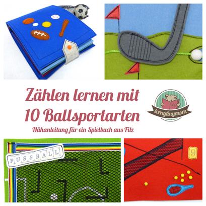 Nähanleitung für Spielbuch, Quiet book, Activity Buch, Nähen für Jungs