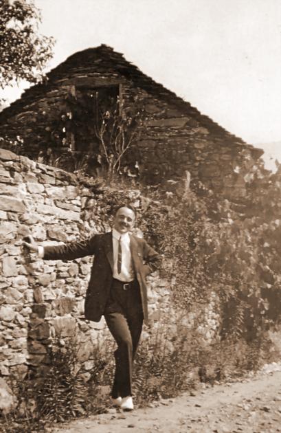 Historisches Foto: Erwin Bowien 1923 im Tessin