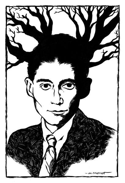 Kafka-Portrait, exklusiv für die Ausstellung