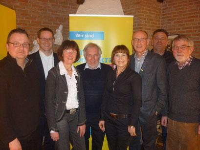 V.l.n.r.: Sven Barbaresko, Thorsten Baumgart, Ulla Lehmann, Gerhard Blumenthal, Roze Özmen, Hermann Ludewig, Olaf Pretel, Horst Geller