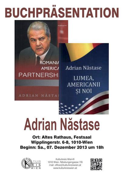 Kulturkreis Wien Günther Wachtl Altes Rathaus Adrian Nastase Wien Buchpräsentation Rumänien Ex-Ministerpräsident