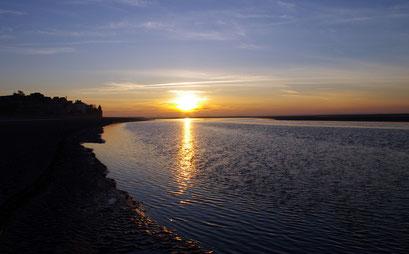 traversée de la baie de Somme au levé de Soleil