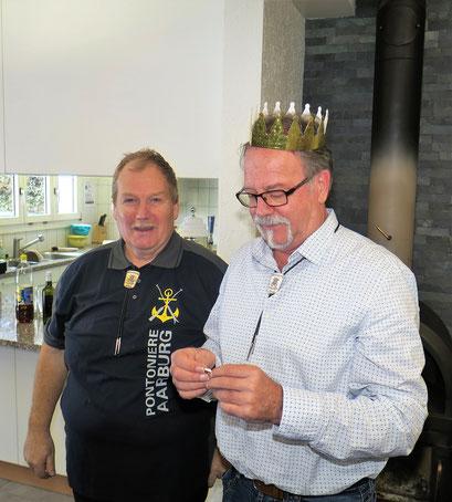 Zunftmeister Bernhard Wullschleger und König Werner Eichenberger